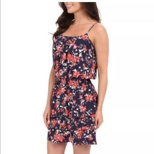 Ariat Blue Pink Spring Floral Ruffle Lorna Dress